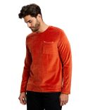 US5594 US Blanks Unisex Velour Long Sleeve Pocket T-Shirt