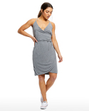 US582 US Blanks Ladies' Modal Wrap Dress
