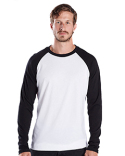 US6600 US Blanks Men's 4.3 oz. Long-Sleeve Triblend Baseball Raglan