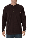 WL451 Dickies Men's Long-Sleeve Heavyweight Henley