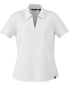78632 Ash City - North End Ladies' Recycled Polyester Performance Piqué Polo