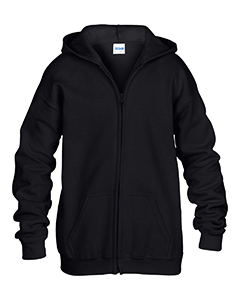 G186B Gildan Youth Heavy Blend™ 50/50 Full-Zip Hooded Sweatshirt